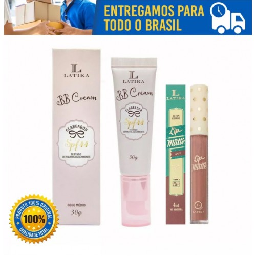 Latika Bb Cream Clareador Fps 44 30g Bege Medio E Batom 30